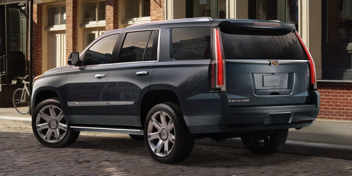 Rear exterior styling of the 2019 Escalade full-size luxury SUV.