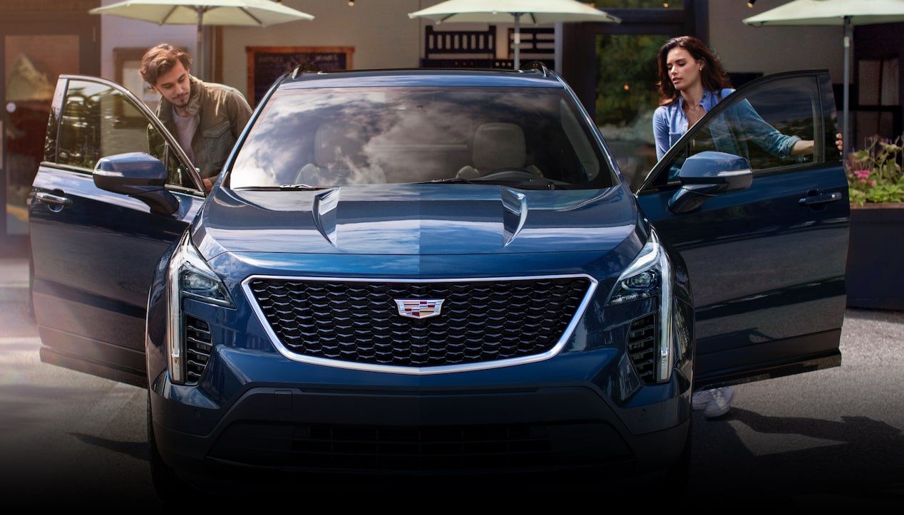 The 2019 Cadillac XT4 crossover's front grille.