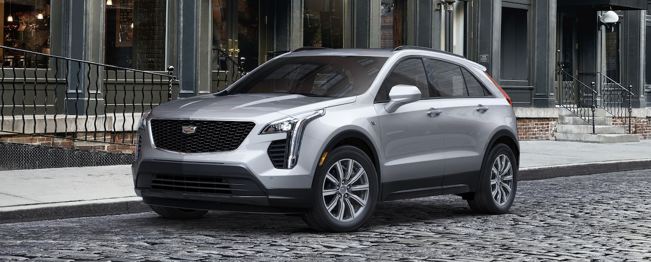 Exterior of the 2019 Cadillac XT4 in Radiant Sliver Metallic.