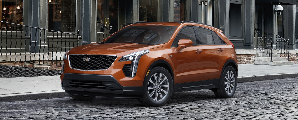 Exterior of the 2019 Cadillac XT4 in Autumn Metallic.