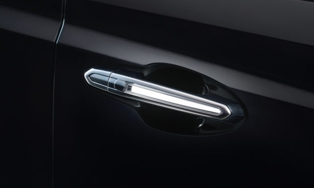 Cadillac XT5 luxury crossover's available Illuminating Door Handles.