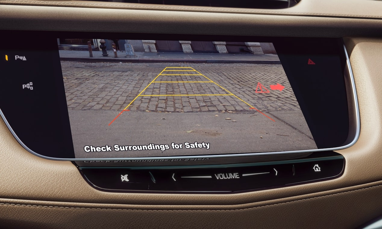 Cadillac XT5's available Traffic Alert feature.