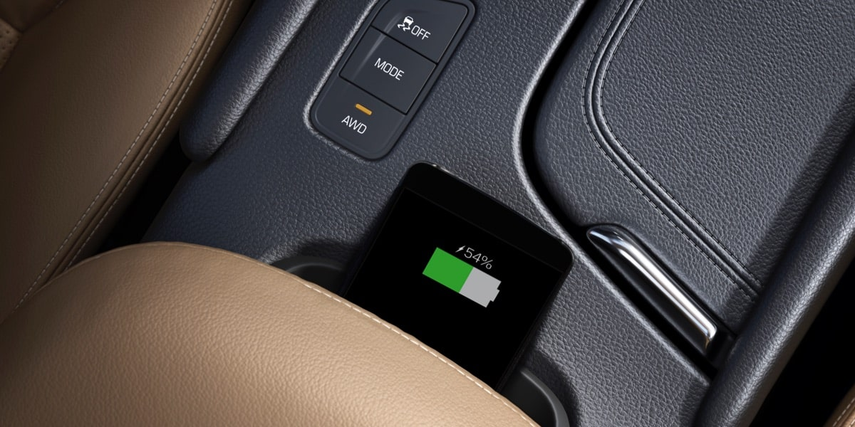 2019 Cadillac XT5 luxury crossover's standard Wireless Charging.