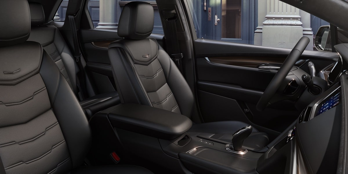 Interior of the 2019 Cadillac XT5 luxury crossover.