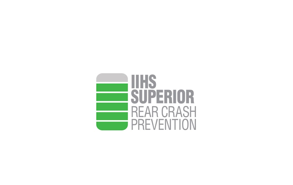 IIHS Superior Rear Crash Prevention.