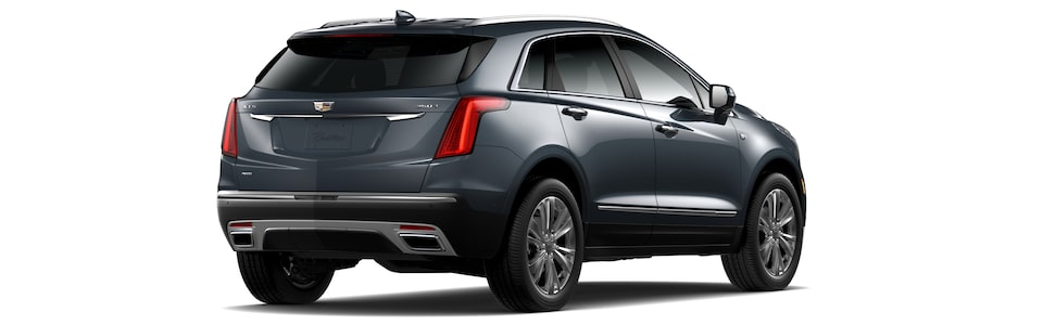 2020 Cadillac XT5 Luxury Crossover Exterior Rear Angle View.