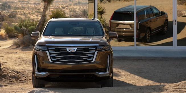 Front side of the 2021 Escalade.