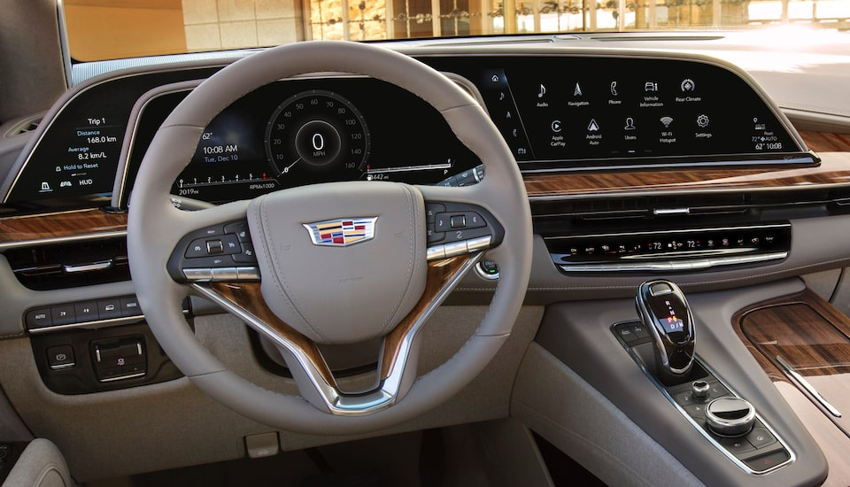 2021 Cadillac Escalade steering wheel.
