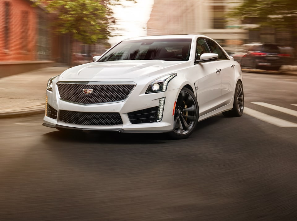 The 2019 Cadillac CTS-V mid-size sport sedan.