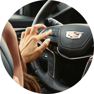 Cadillac Super Cruise Step One: Press the Adaptive Cruise Control button.