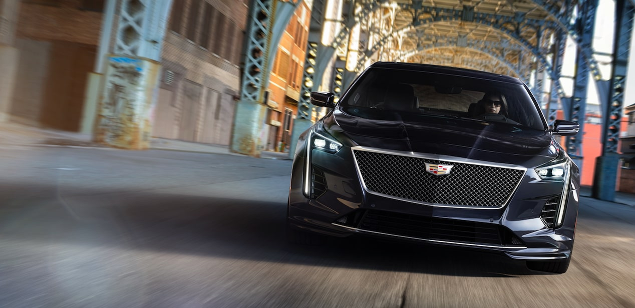 Exterior of the 2019 Cadillac CT6 full-size luxury sedan.