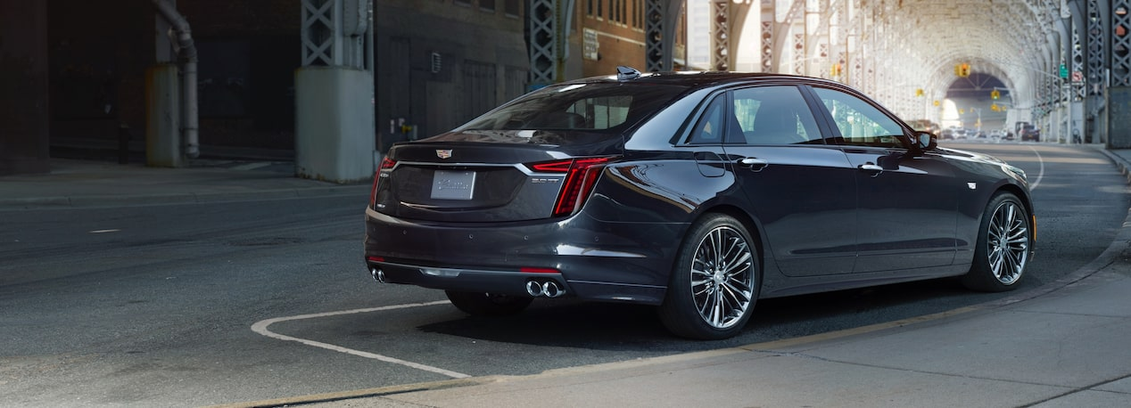 Rear exterior view of the 2019 CT6 full-size luxury sedan.