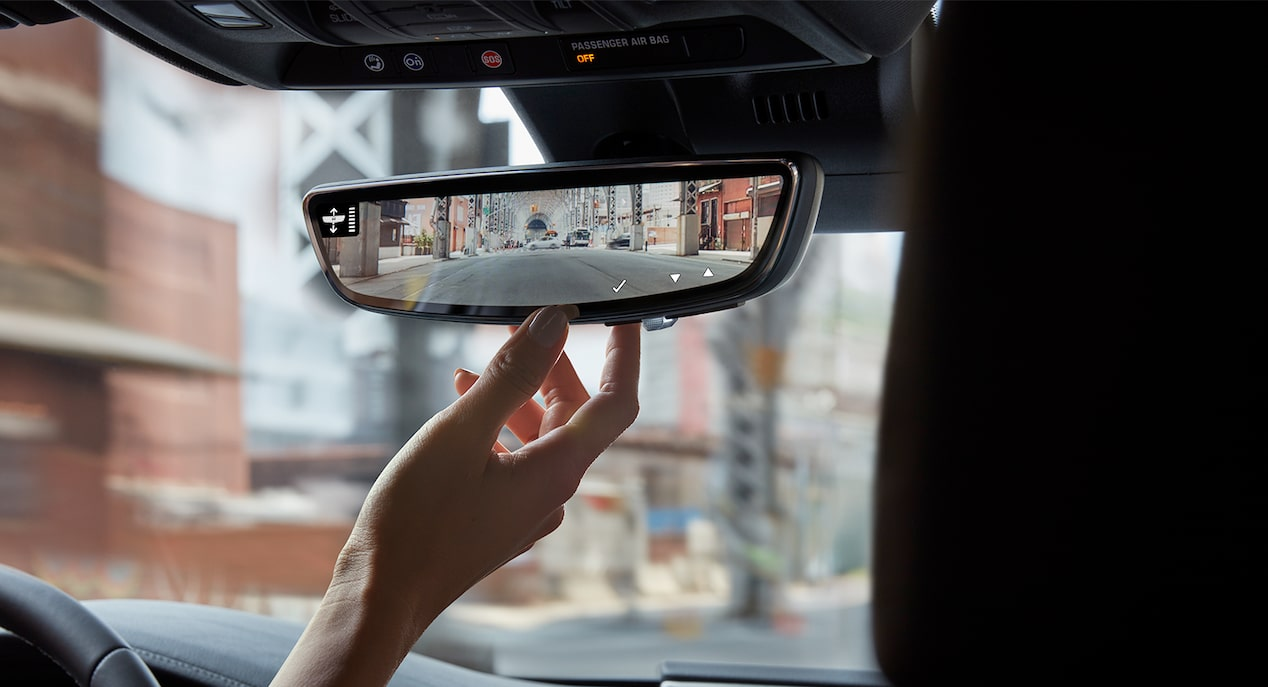 The available Rear Camera Mirror streams HD video inside the 2019 Cadillac CT6.