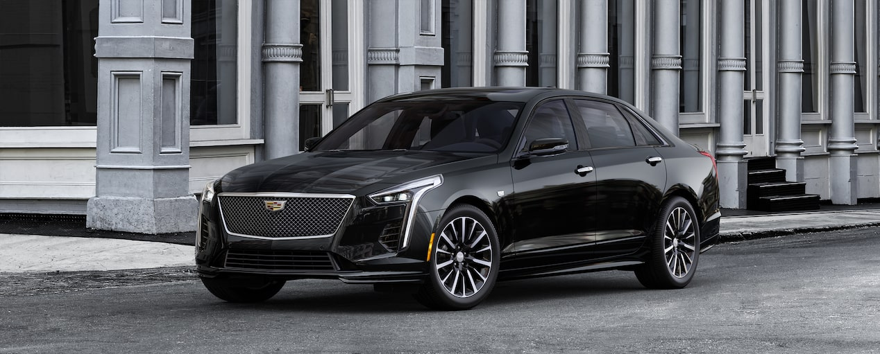 Exterior of the 2019 Cadillac CT6 Sedan in Black Raven.