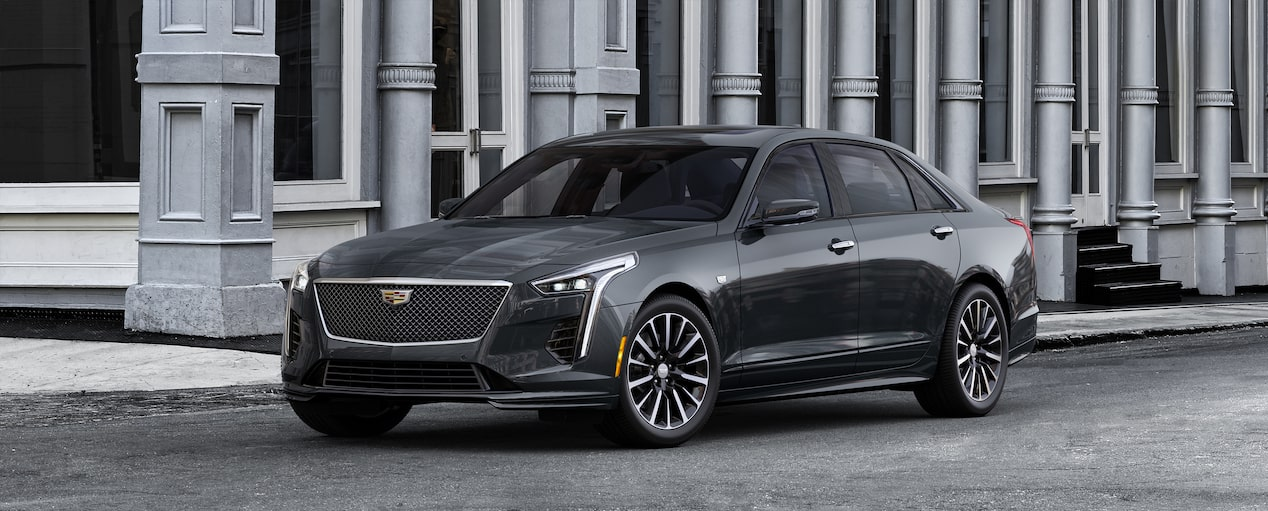 Exterior of the 2019 Cadillac CT6 Sedan in Manhattan Noir Metallic.