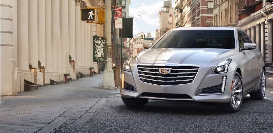 Exterior of the 2019 Cadillac CTS mid-size luxury sedan.