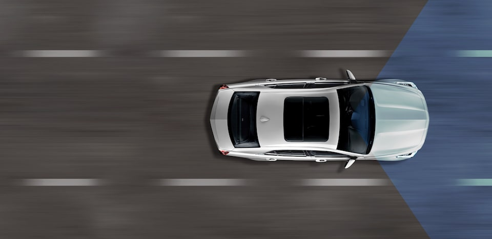 Cadillac CTS safety: available Forward Collision Alert.