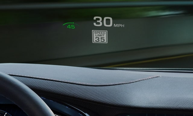 2019 Cadillac CTS V-Sport safety: available Head-Up Display.