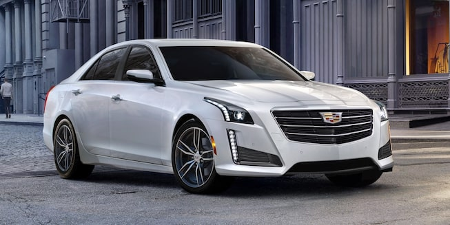 Front exterior profile of the 2019 Cadillac CTS.