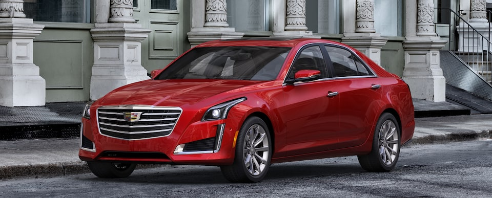 Exterior of the 2019 Cadillac CTS in Red Obsession Tintcoat†.