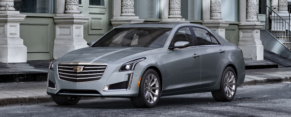 Exterior of the 2019 Cadillac CTS in Satin Steel Metallic†.