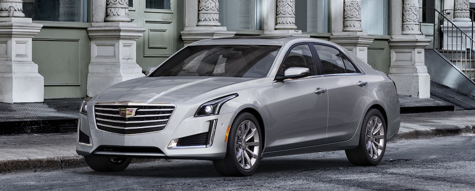 Exterior of the 2019 Cadillac CTS in Radiant Silver Metallic.
