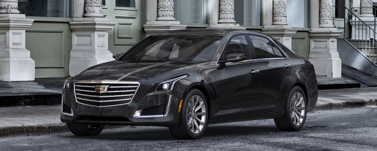 Exterior of the 2019 Cadillac CTS in Stellar Black Metallic†.