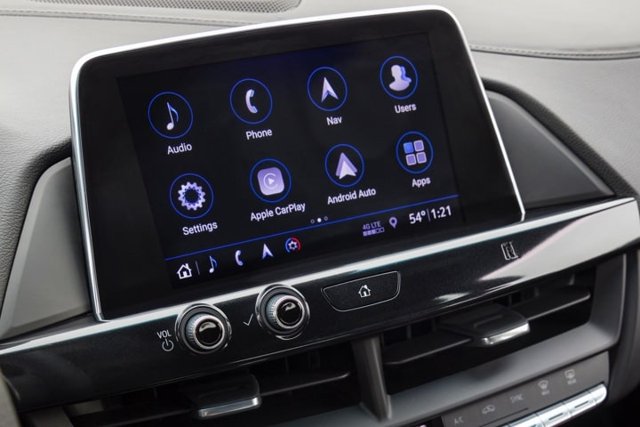 Infotainment System of the 2020 Cadillac CT4 compact luxury sedan.