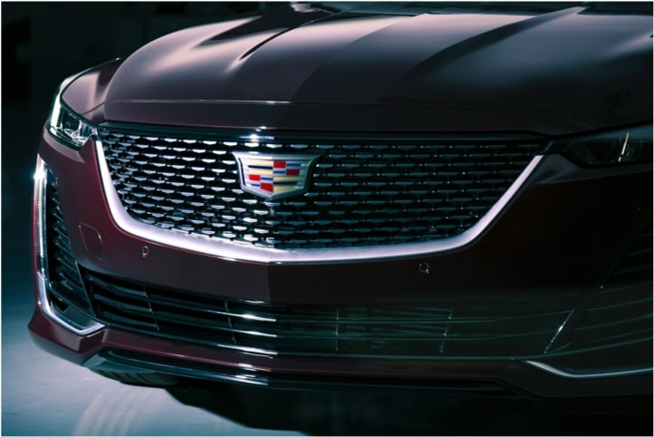 2020 CT5 Luxury Sedan Front Grille Exterior View.