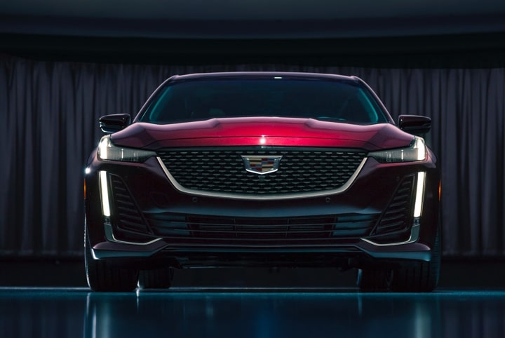 2020 Cadillac CT5 Luxury Sedan Front Exterior Wide View.
