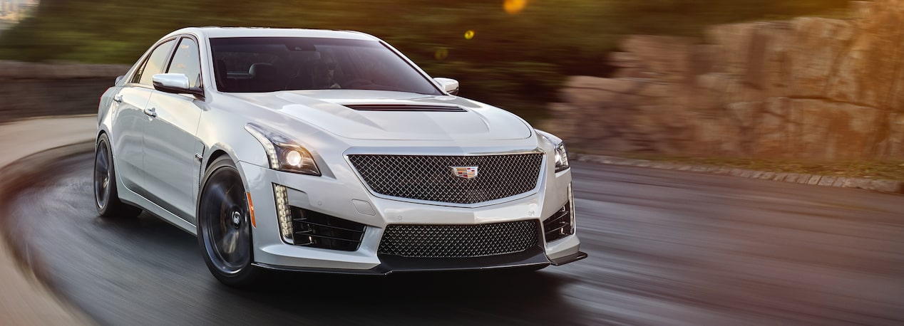 Exterior of the 2019 Cadillac CTS-V mid-size sport sedan.