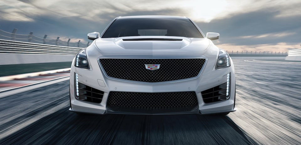 2019 CTS-V mid-size sport sedan performance: front profile.