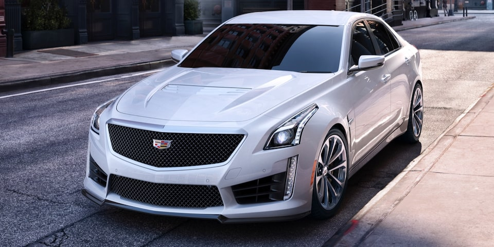 Cadillac CTS-V on the city streets.