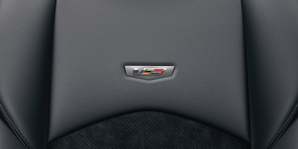Seats in the 2019 CTS-V sedan.