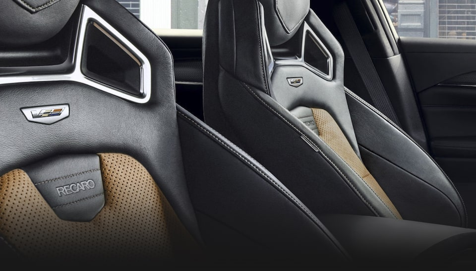 Cadillac CTS-V interior: available Recaro front heated performance seats.