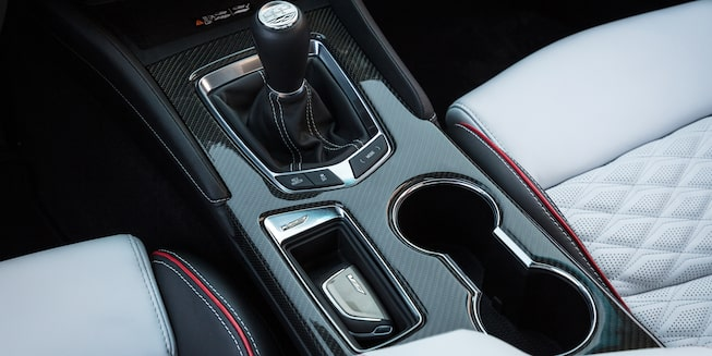 Center console of the 2022 CT4-V Blackwing.