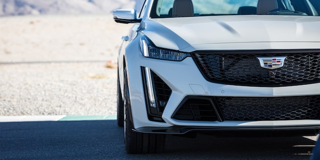 Front view of the 2022 Cadillac CT5-V Blackwing.