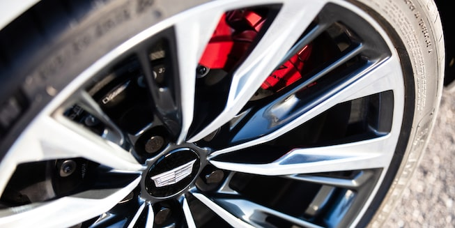 2022 Cadillac CT5-V Blackwing featuring a close-up view of the wheel.