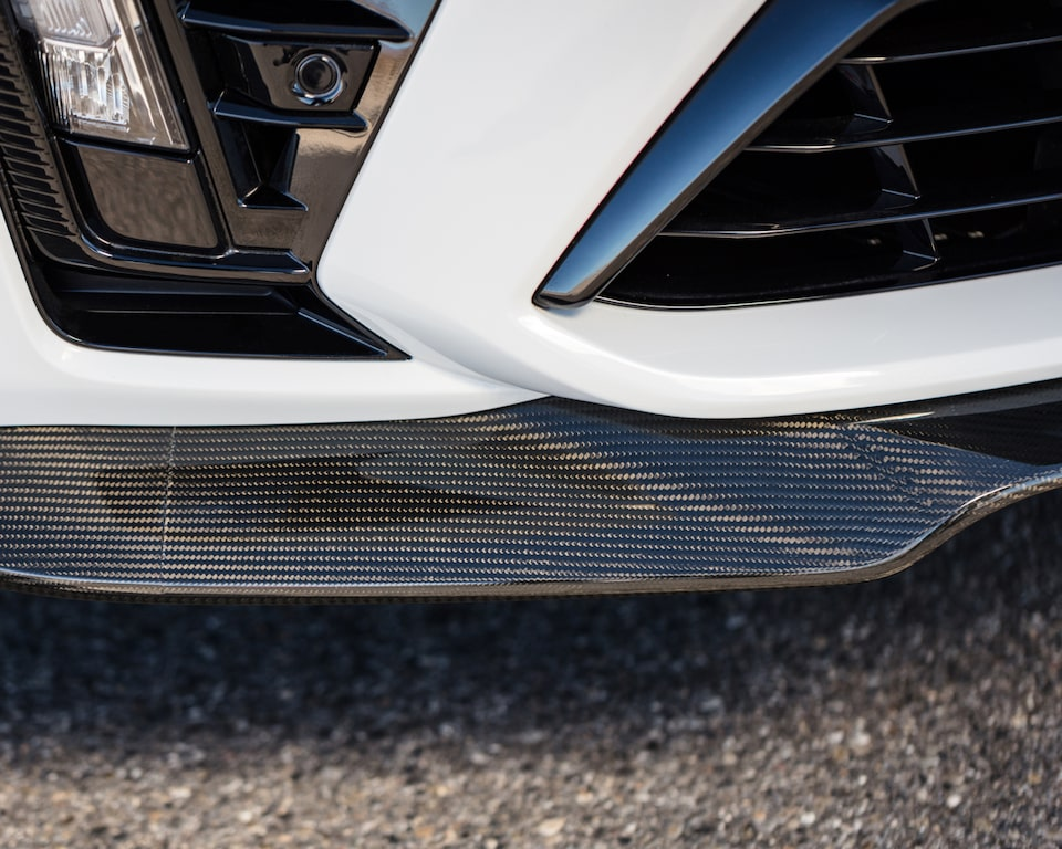 2022 Cadillac CT5-V Blackwing featuring a close-up view of the front bumper.