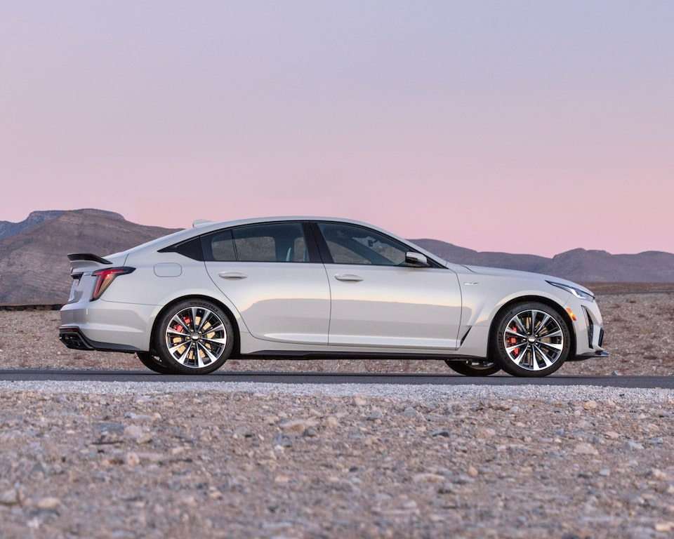 Side profile view of the 2022 Cadillac CT5-V Blackwing.
