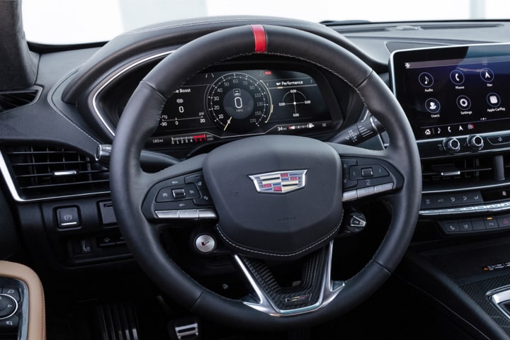 2022 Cadillac CT5-V Blackwing featuring the high-performance steering wheel.