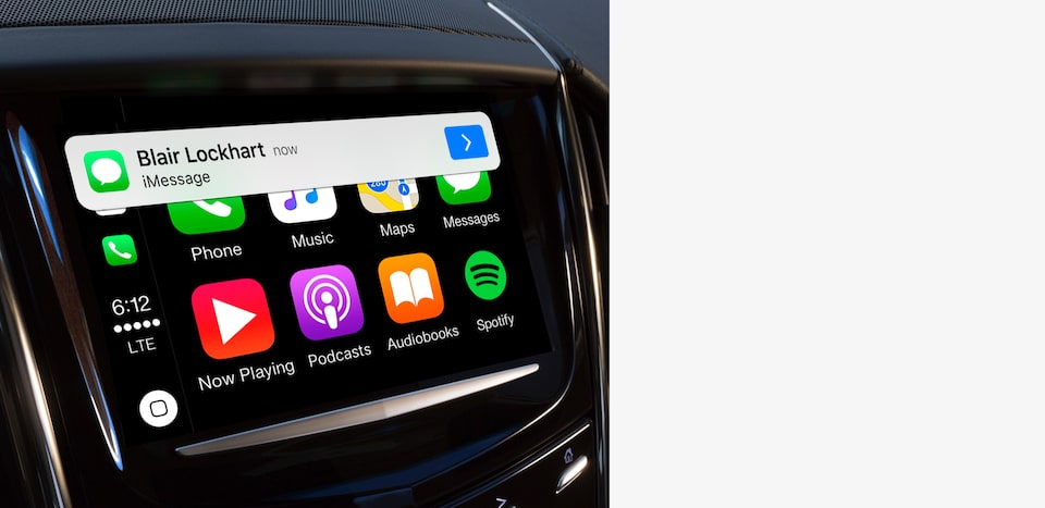 Cadillac's Apple CarPlay connectivity.