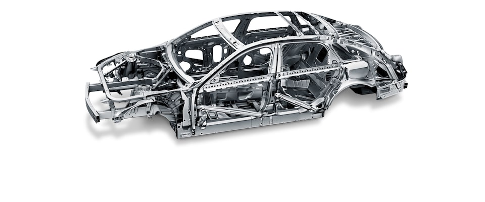 Cadillac's innovative fusion technologies create a single, rigid, lightweight frame.