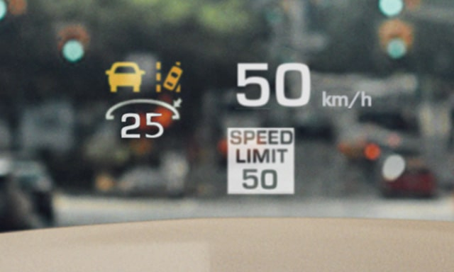 The Head-Up Display inside the XT5 Crossover.
