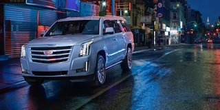 2020 Cadillac Escalade Full-Size SUV Front Exterior at night.