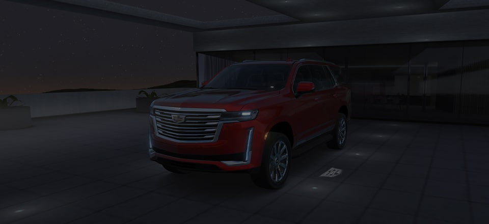 2021 Escalade parked outside.