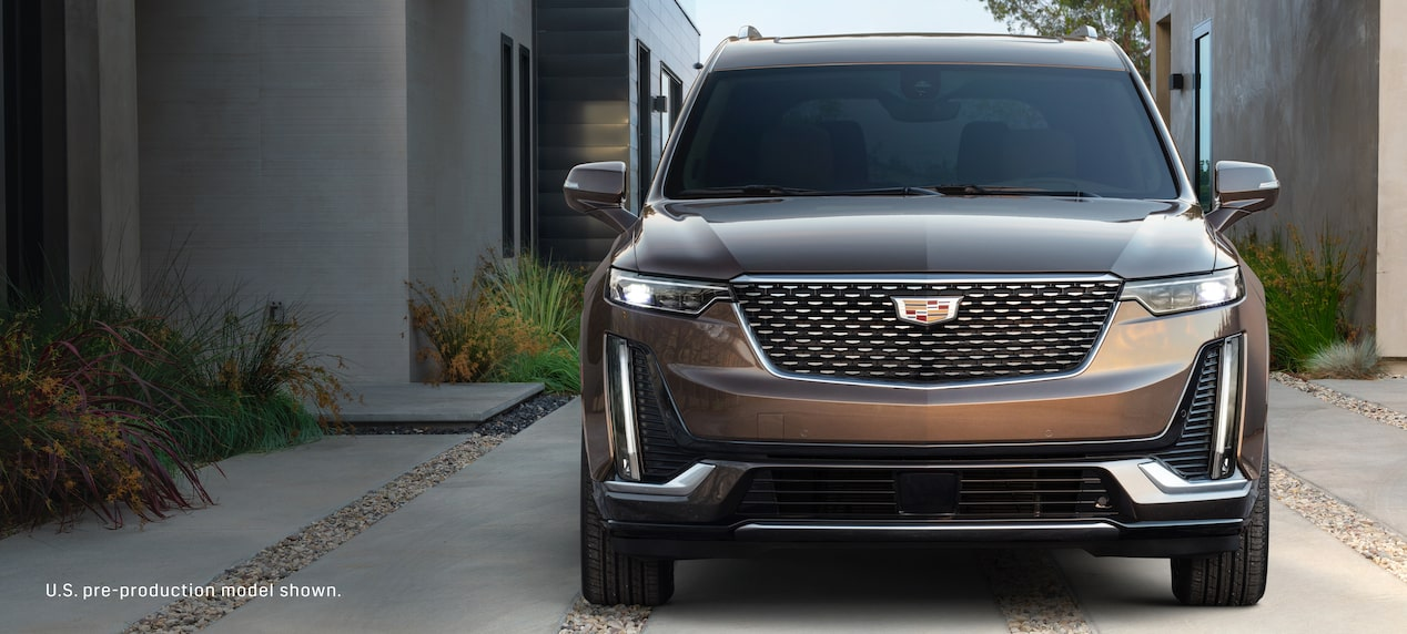 Front exterior profile of the Cadillac XT6 Crossover available mid-2019.