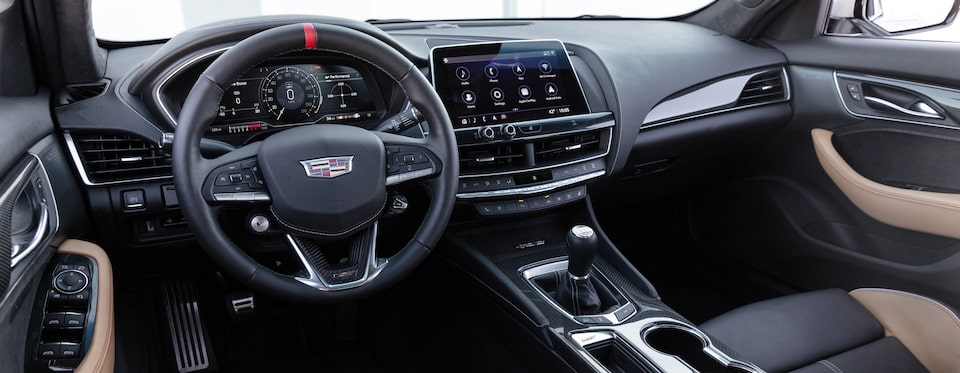 2022 Cadillac CT5-V Blackwing featuring the front interior.