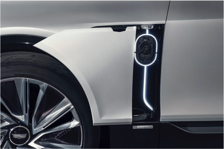 The Cadillac LYRIQ DC fast-charging rates.