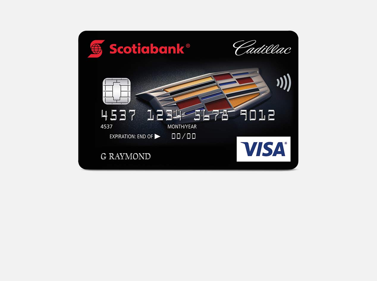 The new Scotiabank GM Visa Card.